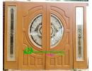 ประตูกระจกนิรภัย ไม้สักอบแห้ง A31
