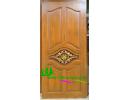 ประตูบานเดี่ยว ไม้สักอบแห้ง D08