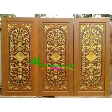 ประตูไม้สักบานเดี่ยว รหัส D103