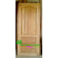 ประตูไม้สักบานเดี่ยว รหัส D106