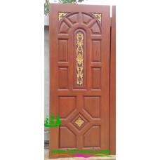 ประตูไม้สักบานเดี่ยว รหัส D108