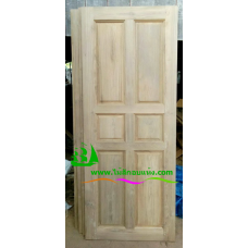 ประตูไม้สักบานเดี่ยว รหัส D117