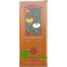 ประตูไม้สักบานเดี่ยว รหัส D20