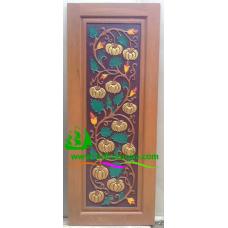 ประตูไม้สักบานเดี่ยว รหัส D27