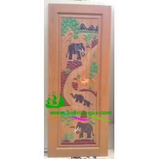 ประตูไม้สักบานเดี่ยว รหัส D28