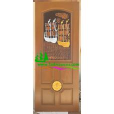 ประตูไม้สักบานเดี่ยว รหัส D40