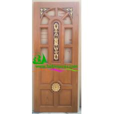 ประตูไม้สักบานเดี่ยว รหัส D42