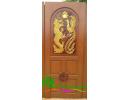 ประตูบานเดี่ยว ไม้สักอบแห้ง D43