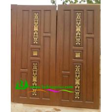 ประตูไม้สักบานเดี่ยว รหัส D60