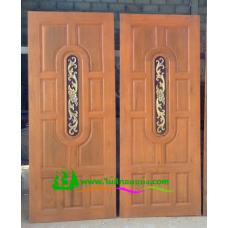 ประตูไม้สักบานเดี่ยว รหัส D69