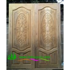 ประตูไม้สักบานเดี่ยว รหัส D73