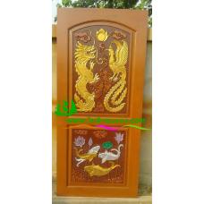 ประตูไม้สักบานเดี่ยว รหัส D81