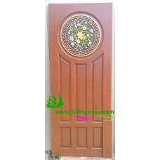 ประตูไม้สักบานเดี่ยว รหัส D86