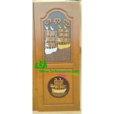 ประตูไม้สักบานเดี่ยว รหัส D87