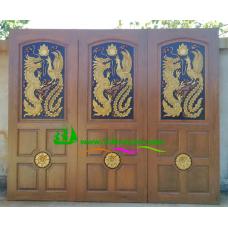 ประตูไม้สักบานเดี่ยว รหัส D93