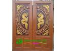 ประตูบานคู่ ไม้สักอบแห้ง DD02