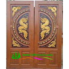 ประตูไม้สักบานคู่ รหัส DD02