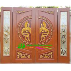 ประตูไม้สักบานคู่ รหัส DD04