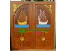 ประตูบานคู่ ไม้สักอบแห้ง DD05