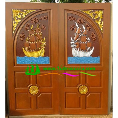 ประตูไม้สักบานคู่ รหัส DD05