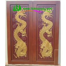 ประตูไม้สักบานคู่ รหัส DD06