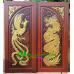 ประตูไม้สักบานคู่ รหัส DD10