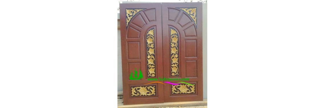 ประตูบานคู่ไม้สัก DD15