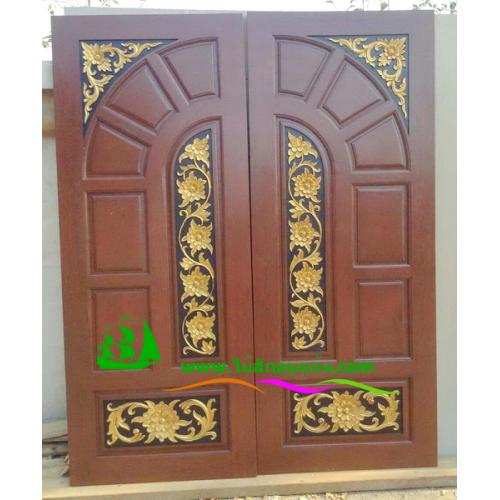 ประตูไม้สักบานคู่ รหัส DD15