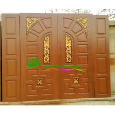 ประตูไม้สักบานคู่ รหัส DD16