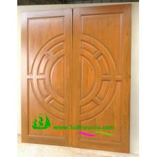 ประตูไม้สักบานคู่ รหัส DD18