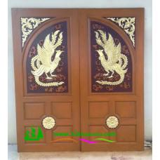 ประตูไม้สักบานคู่ รหัส DD19