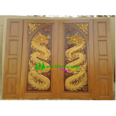 ประตูไม้สักบานคู่ รหัส DD20