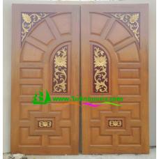 ประตูไม้สักบานคู่ รหัส DD21