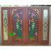 ประตูไม้สักบานคู่ รหัส DD22