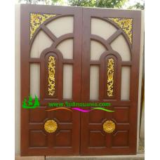 ประตูไม้สักบานคู่ รหัส DD23