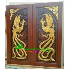 ประตูไม้สักบานคู่ รหัส DD25