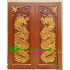 ประตูไม้สักบานคู่ รหัส DD29