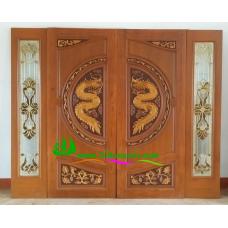ประตูไม้สักบานคู่ รหัส DD38
