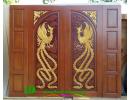 ประตูบานคู่ ไม้สักอบแห้ง DD45