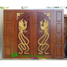 ประตูไม้สักบานคู่ รหัส DD45