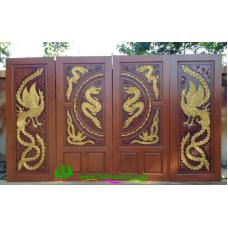 ประตูไม้สักบานคู่ รหัส DD46