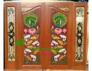 ประตูบานคู่ ไม้สักอบแห้ง DD47