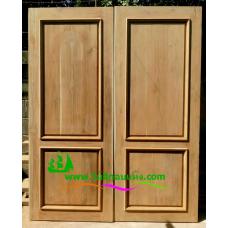 ประตูไม้สักบานคู่ รหัส DD51