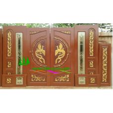 ประตูไม้สักบานคู่ รหัส DD53