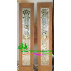 ประตูบานเฟี้ยมไม้สัก รหัส F01