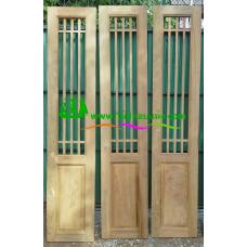 ประตูบานเฟี้ยมไม้สัก รหัส F09