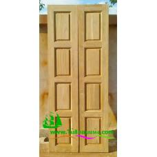 ประตูบานเฟี้ยมไม้สัก รหัส F12