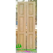 ประตูบานเฟี้ยมไม้สัก รหัส F15