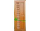 ประตูห้องน้ำ ไม้สักอบแห้ง N03