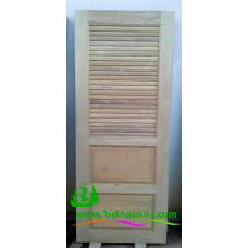 ประตูห้องน้ำไม้สัก รหัส  N12